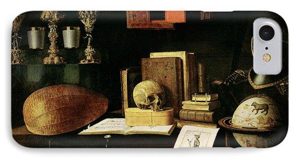 Vanitas Still Life, 1641 Oil On Canvas IPhone Case by Sebastian Stoskopff