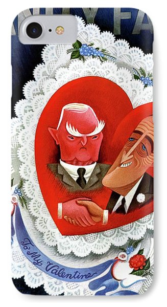 Vanity Fair Cover Featuring A Valentine IPhone Case by Miguel Covarrubias