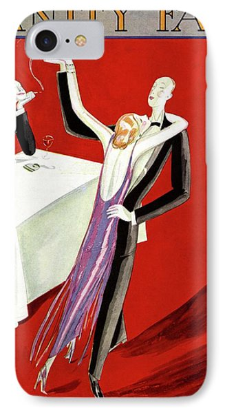 Vanity Fair Cover Featuring An Elegant Couple IPhone Case by Eduardo Garcia Benito
