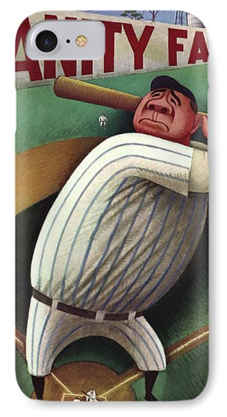Vanity Fair Cover Featuring Babe Ruth IPhone Case by Miguel Covarrubias