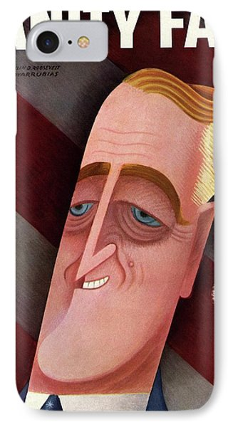 Vanity Fair Cover Featuring Franklin D. Roosevelt IPhone Case by Miguel Covarrubias