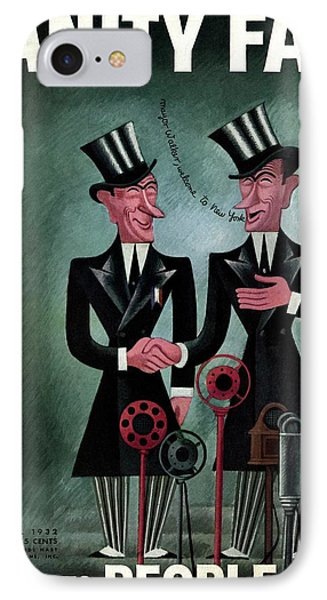 Vanity Fair Cover Featuring Two James Walkers IPhone Case by Miguel Covarrubias