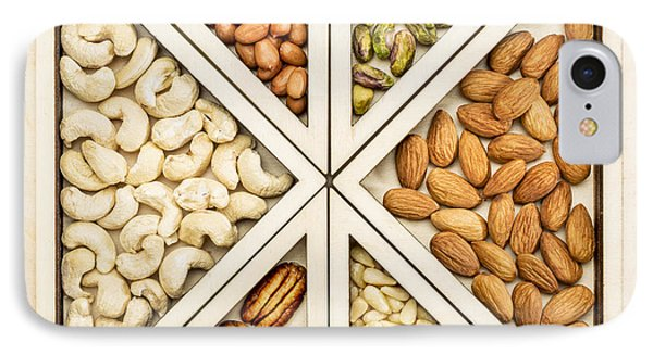 Variety Of Nuts Abstract IPhone Case by Marek Uliasz
