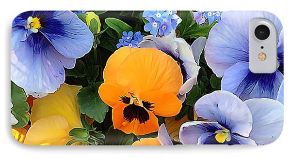 IPhone Case featuring the photograph Various Violets by Gabriella Weninger - David