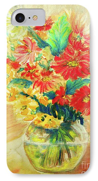 IPhone Case featuring the painting Vase by Jasna Dragun