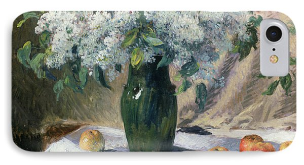 Vase Of Flowers IPhone Case by Henri Lerolle