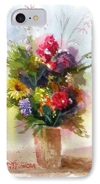 Vase Of Flowers IPhone Case by Larry Hamilton