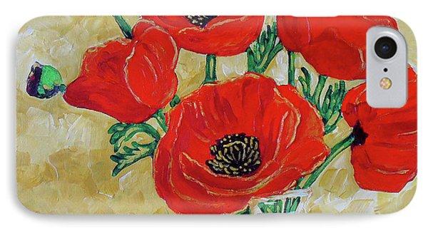 Vase Of Red IPhone Case by Vickie Warner