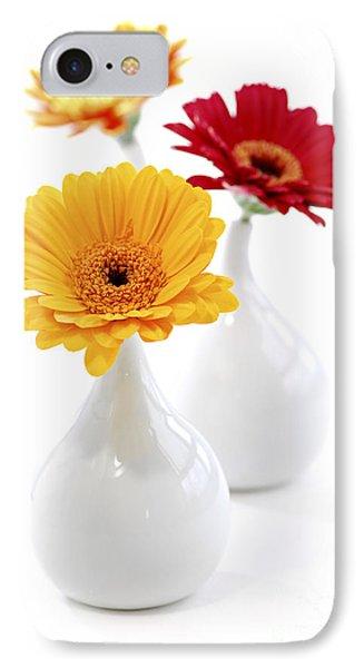 Vases With Gerbera Flowers Phone Case by Elena Elisseeva