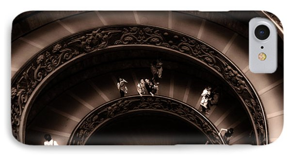 IPhone Case featuring the photograph Vatican Museum Spiral Staircase by Rob Tullis