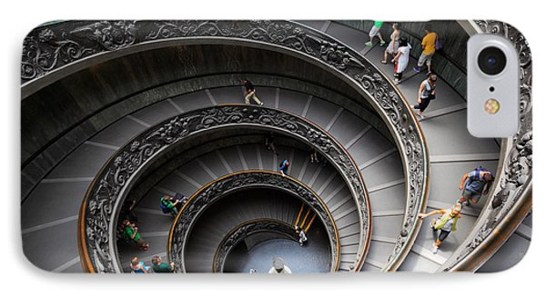 Vatican Spiral Staircase Phone Case by Inge Johnsson