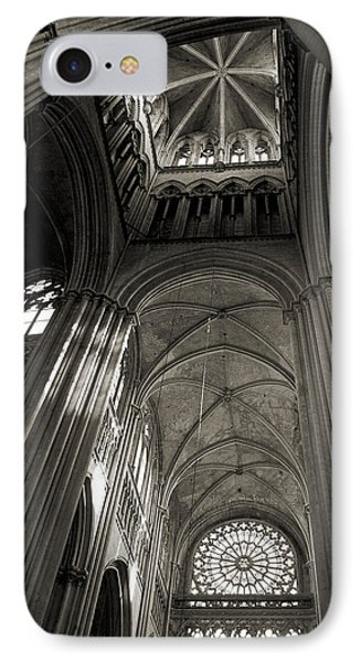 Vaults Of Rouen Cathedral Phone Case by RicardMN Photography