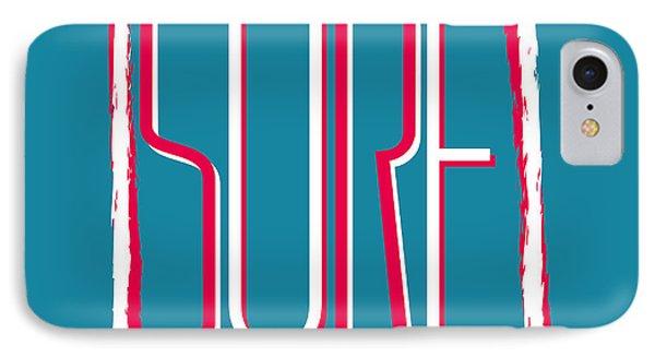 T Shirts iPhone 7 Case - Vector Illustration Californian Surf by Artem Kovalenco