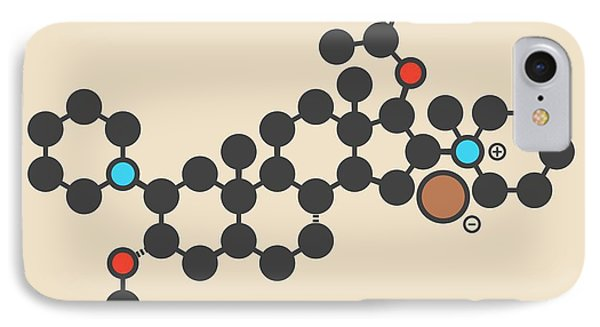Vecuronium Bromide Molecule IPhone Case