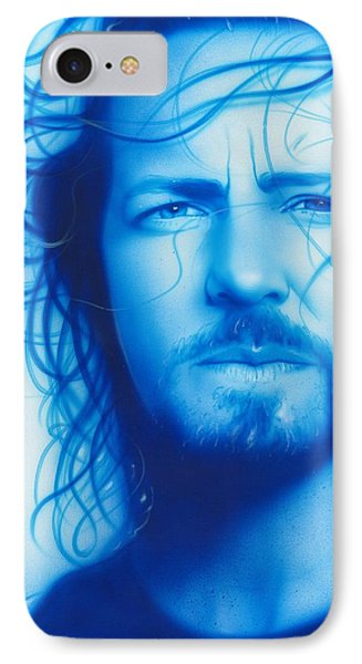 Eddie Vedder - ' Vedder ' IPhone 7 Case by Christian Chapman Art