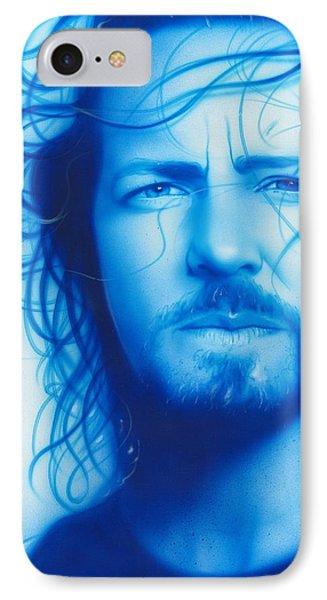 Eddie Vedder - ' Vedder ' IPhone Case by Christian Chapman Art
