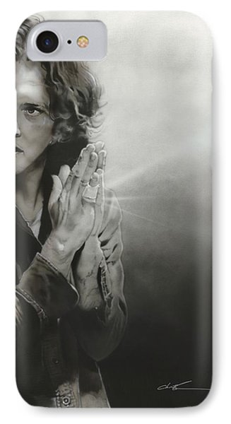 Eddie Vedder - ' Vedder Iv ' IPhone 7 Case by Christian Chapman Art