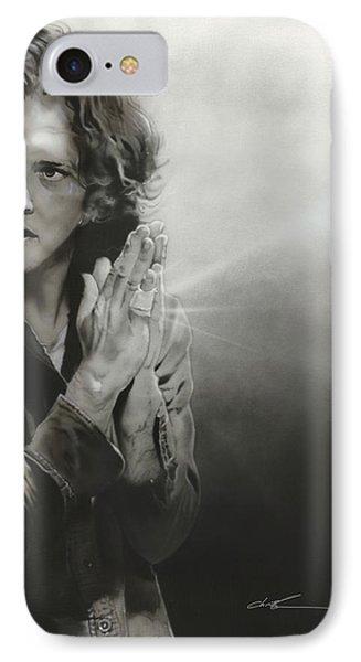 Eddie Vedder - ' Vedder Iv ' IPhone Case by Christian Chapman Art