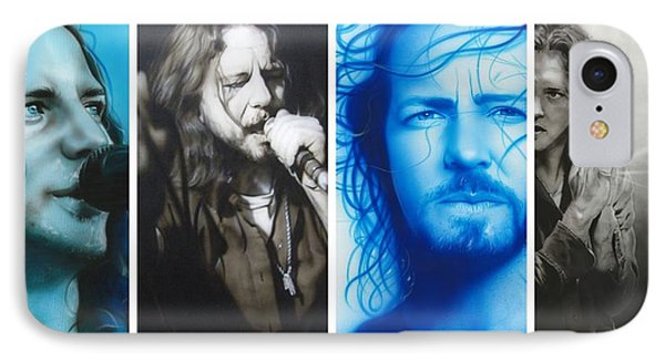 Eddie Vedder - ' Vedder Mosaic I ' IPhone Case by Christian Chapman Art