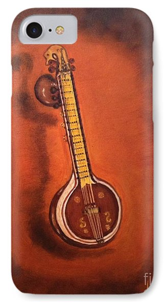 IPhone Case featuring the painting Veena by Brindha Naveen