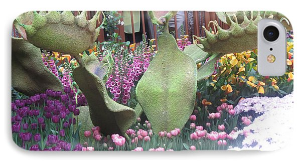 IPhone Case featuring the photograph Vegas Butterfly Garden Flowers Cactus Romanti Interior Decorations by Navin Joshi