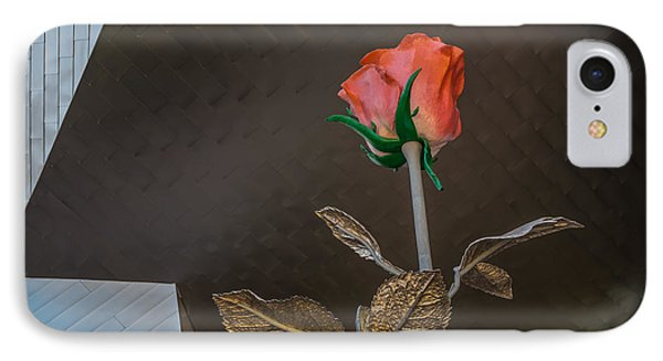 IPhone Case featuring the photograph Vegas Rose by Glenn DiPaola