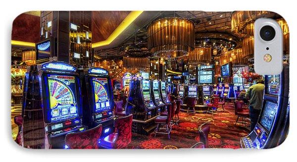 Vegas Slot Machines Phone Case by Yhun Suarez