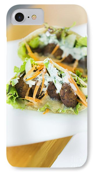 Vegetarian Falafel In Pita Bread Sandwich IPhone Case