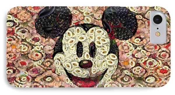 Veggie Mickey Mouse Phone Case by Paulette B Wright