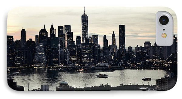 Vehement Silhouettes Of Manhattan - That Vertical City With Unimaginable Diamonds IPhone Case by Natasha Marco