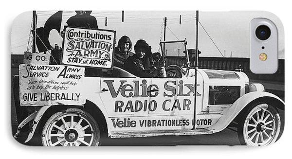 Velie Six Radio Car IPhone Case by Underwood & Underwood