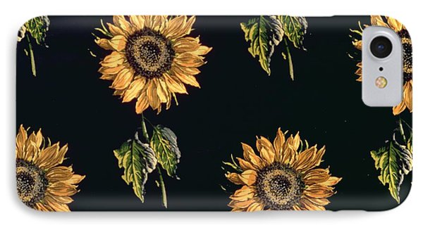 Velours Au Sabre Silk Decoration Of Sunflowers By Maison Ogier And Duplan, Lyon 1894 Textile IPhone Case