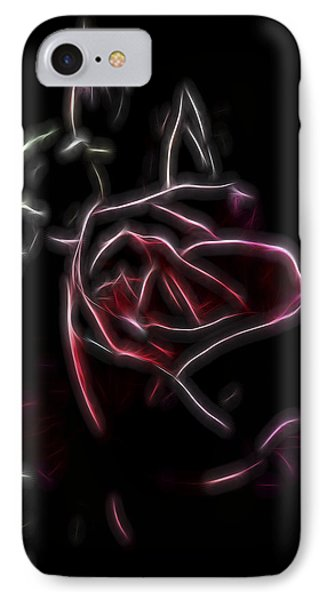 IPhone Case featuring the digital art Velvet Rose 2 by William Horden