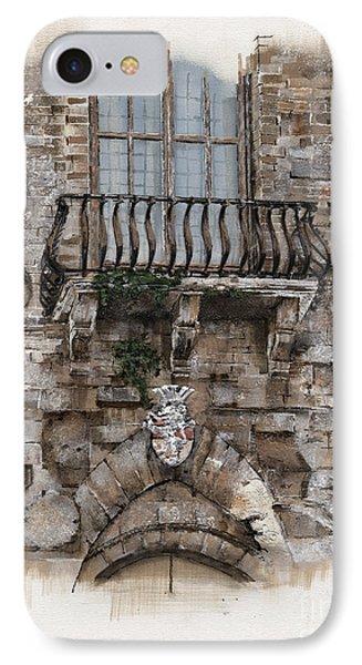Venetian Balcony 02 Elena Yakubovich IPhone Case by Elena Yakubovich