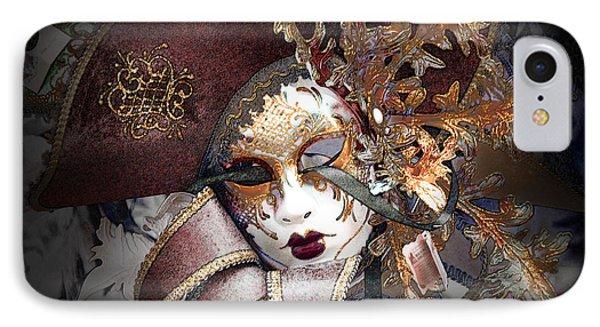 Venetian Carnival Mask IPhone Case by David Blank