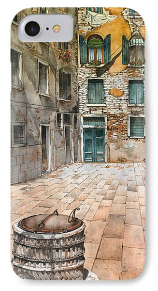Venetian Courtyard 02 Elena Yakubovich IPhone Case by Elena Yakubovich
