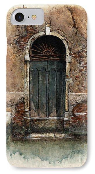 IPhone Case featuring the painting Venetian Door 01 Elena Yakubovich by Elena Yakubovich