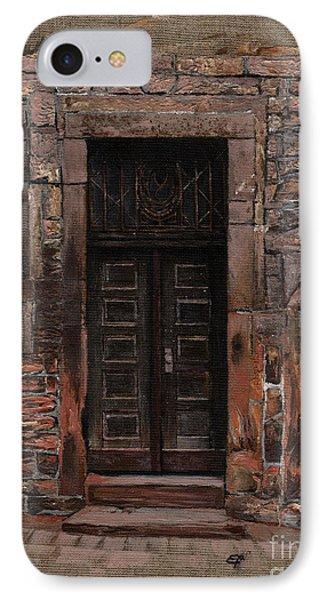 IPhone Case featuring the painting Venetian Door 02 Elena Yakubovich by Elena Yakubovich