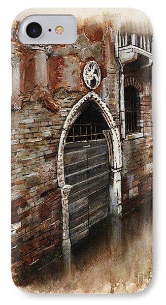 IPhone Case featuring the painting Venetian Door 03 Elena Yakubovich by Elena Yakubovich