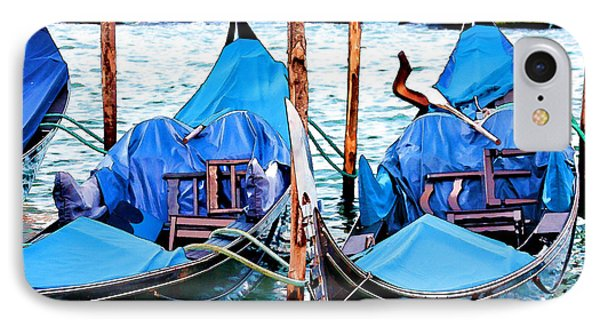 IPhone Case featuring the digital art Venetian Gondolas by Brian Davis