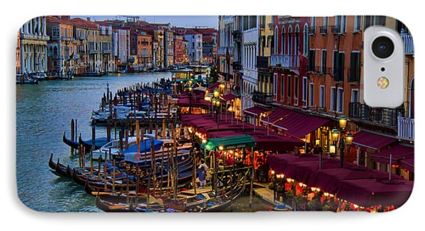 Venetian Grand Canal At Dusk IPhone Case by David Smith