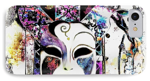 Venetian Mask IPhone Case by Barbara Chichester