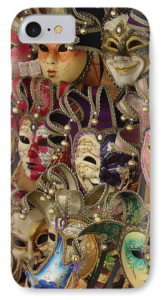 IPhone Case featuring the photograph Venetian Masks by Ramona Johnston