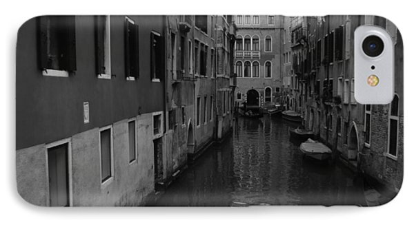 Venetian Monochrome Bw IPhone Case by Walter Fahmy