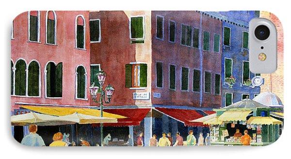 Venetian Piazza IPhone Case by Roger Rockefeller