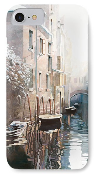 Venezia Sotto La Neve Phone Case by Guido Borelli