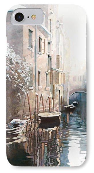 Venezia Sotto La Neve IPhone Case by Guido Borelli