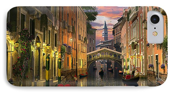 Venice At Dusk IPhone Case by Dominic Davison