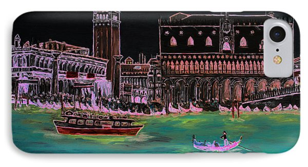 Venice At Night IPhone Case by Loredana Messina