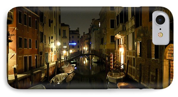 IPhone Case featuring the photograph Venice At Night by Silvia Bruno